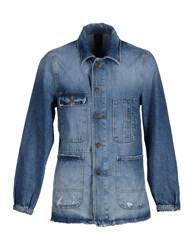 People Denim Denim Outerwear Men Blue