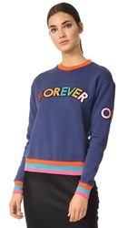Mira Mikati Forever Or Never Patch Sweatshirt Navy