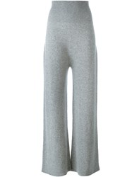Agnona Wide Legged Straight Trousers Grey