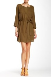 Glam Rounded Hem Dress Green