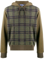 Junya Watanabe Man Check Colour Block Hoodie 60