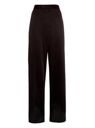 Jason Wu Wide Leg Crepe Satin Trousers
