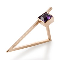 Myriamsos Side Finger Triangle Ring Rose Gold