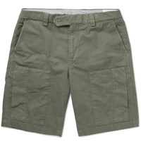 Brunello Cucinelli Cotton Blend Twill Cargo Shorts Green