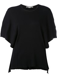 Stella Mccartney Short Sleeve Top Women Cotton 38 Black