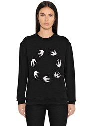Mcq By Alexander Mcqueen Swallow Print Cotton Jersey Sweatshirt
