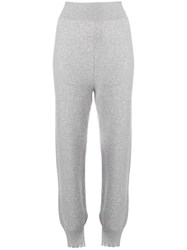 Fine Edge Knitted Track Trousers Grey