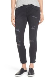 Jag Jeans Women's Mera Distressed Skinny Ankle Black
