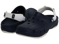 Crocs Ace Boating Unisex Navy White Clog Shoes Blue