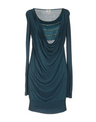 Only 4 Stylish Girls By Patrizia Pepe Short Dresses Deep Jade