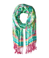 Lilly Pulitzer The Lilly Scarf Tropical Pink Tropical Storm Scarves Blue