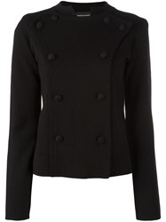 Emporio Armani Double Breasted Blazer Black