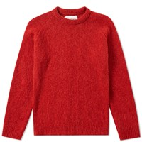 Our Legacy Round Neck Raglan Knit Red