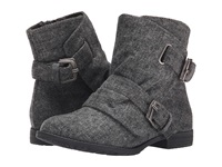 Blowfish Tomer Grey Soft Herringbone Fabric Women's Boots Gray