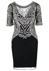 Frock And Frill Abbie Cocktail Dress Party Dress Black Silver