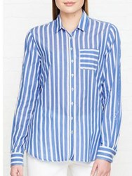Tommy Hilfiger Aris Striped Long Sleeve Shirt Blue White Blue White