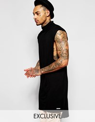Granted Longline Tunic With Turtle Neck Black