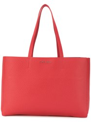 Orciani Large Logo Tote Red