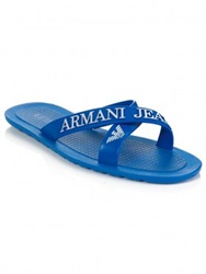 Armani Jeans Royal Blue Pool Sandals
