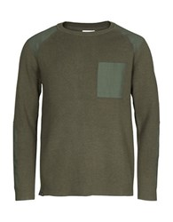 Wesc Aero Ribbed Sweater Forest Green