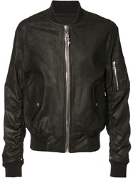 Rta Chained Zipper Bomber Jacket Black