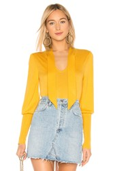 Bcbgmaxazria Mock Neck Pullover Yellow