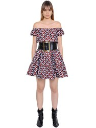 Philosophy Di Lorenzo Serafini Off The Shoulder Floral Jacquard Dress