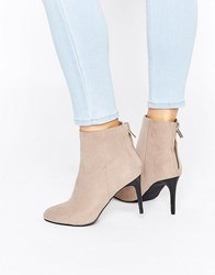 New Look High Ankle Heeled Boot Grey