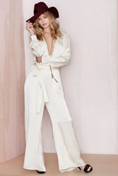 Nasty Gal After Party Vintage 54Th Street Satin Jumpsuit