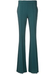 Marco De Vincenzo Flared Pleated Trousers Blue