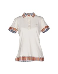 Henry Cotton's Topwear Polo Shirts Women Ivory
