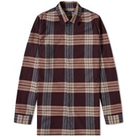 Helmut Lang Heritage Plaid Shirt Burgundy