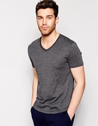 Reiss V Neck T Shirt Offblack