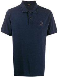Belstaff Logo Embroidered Polo Shirt Blue