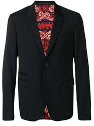 Valentino Single Breasted Suit Blue