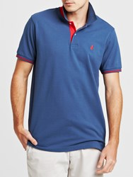 Thomas Pink Brandon Plain Polo Shirt Blue Red