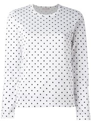 Comme Des Garcons Girl Polka Dot Longsleeved T Shirt White