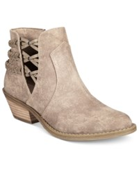 Report Dempsey Cutout Ankle Booties Women's Shoes Taupe
