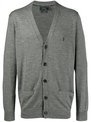Polo Ralph Lauren Embroidered Logo Cardigan Grey