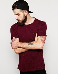 Farah Vintage T Shirt With Fleck In Regular Fit Red