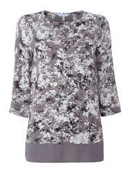 Joules Long Sleeve Shell Top Grey
