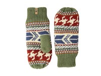 The North Face Fair Isle Mitt Four Leaf Clover Multi Extreme Cold Weather Gloves Green