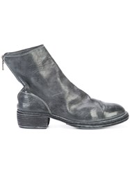 Guidi Rear Zip Boots Grey