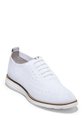 Cole Haan Knit Original Grand Wing Tip Sneaker Op Wht Knt