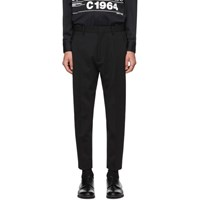 Dsquared2 Black Wool Tropical Techno Trousers