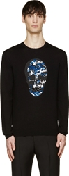 Markus Lupfer Black Sequinned Skull Sweater