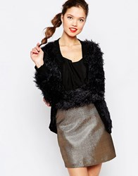 Love Moschino Shaggy Cardigan Black