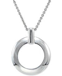 Giani Bernini Circle Pendant Necklace In Sterling Silver Only At Macy's