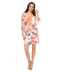 Bishop Young Chrissy Cold Shoulder Dress Print Women's Dress Multi
