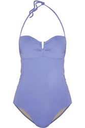 Tart Collections Aloni Ruched Halterneck Swimsuit Purple
